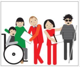 różne osoby z niepełnospr