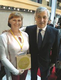 Anna Kwiatkowska i Antonio Tajani