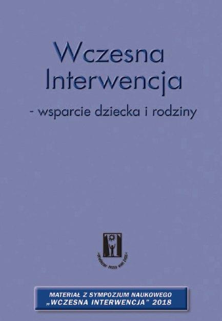Okładka książki Wczesna interwencja